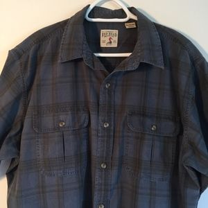 RedHead Men's Blue Plaid SS Button Up Shirt